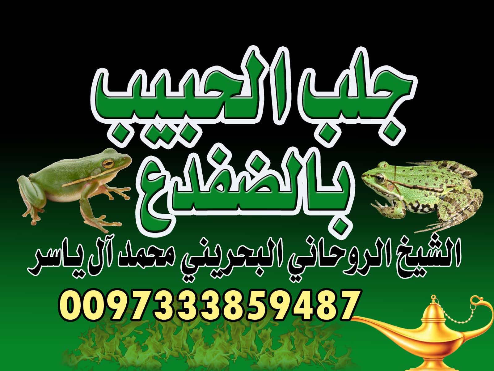 جلب الحبيب بالضفدع الشيخ الروحاني محمد آل ياسر 0097333859487